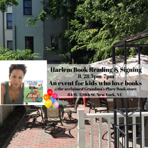 Harlem, NYC Book Signing 8_28 3pm-5