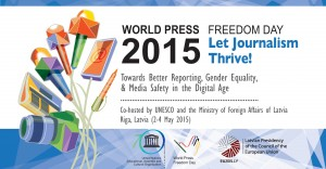 banner for World Press Freedom Day 2015