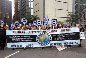The NWU participated in the People's Climate March, together with the United Auto Workers, in September, 2014.