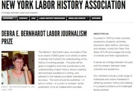 NY Labor History Association Accepting Article Entries for Journalism Prize