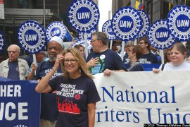 NWU, UAW March in Labor Parade