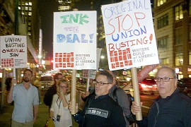 TV Writers Rally, Unionize
