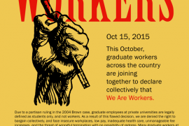 We Are Workers: National Graduate Worker Day of Action