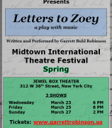 Garrett Robinson is Back with More Performances of Letters to Zoey