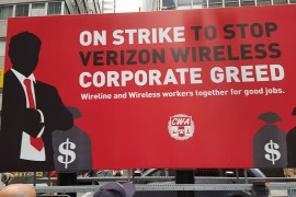 NWU Joins Day of Action for Verizon Strikers