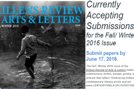 Killens Review Accepts Submissions through June 17