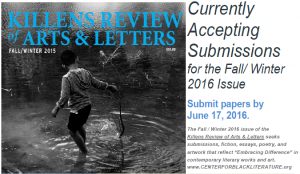 Killens Review of Arts & Letters submissions