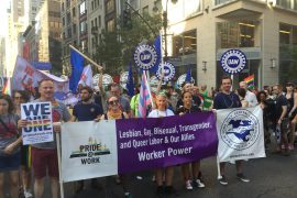 At the Pride March: Labor Against Hate!