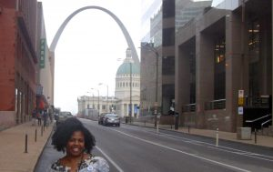 Pamela in St. Louis. Photo by Alecia Goodlow-Young.
