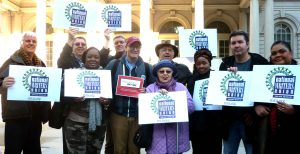 NWU Members at City Hall Rally last spring