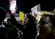 Protesters at JFK on Jan. 28. Justin Lane, European Pressphoto Agency
